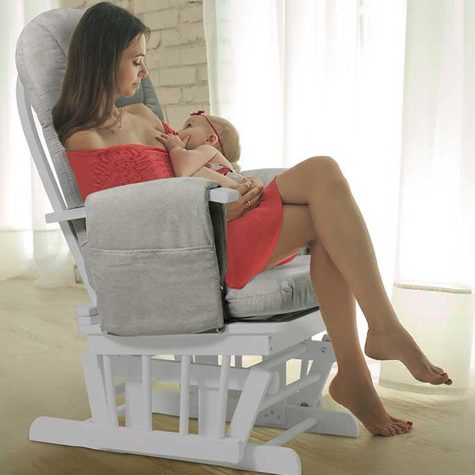 Nursery Glider Chair with Footstool Kiddo